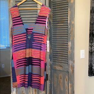 Mara Hoffman bodycon mini dress with pockets NWT